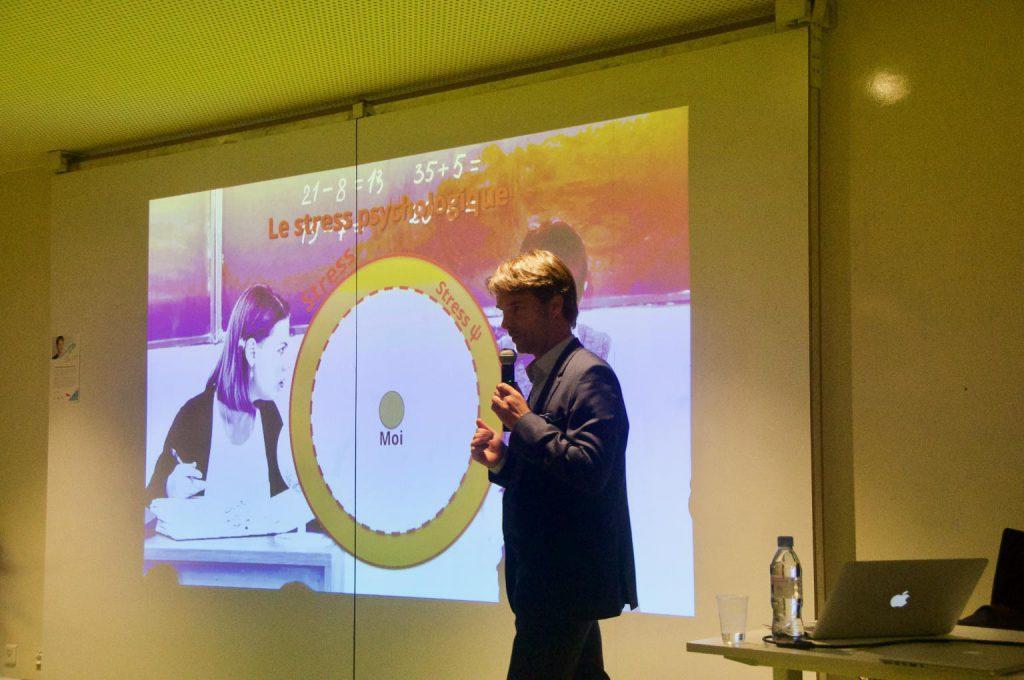 Conférence gestion du stress Patrick COllignon au WAWLab de Paris-Saclay